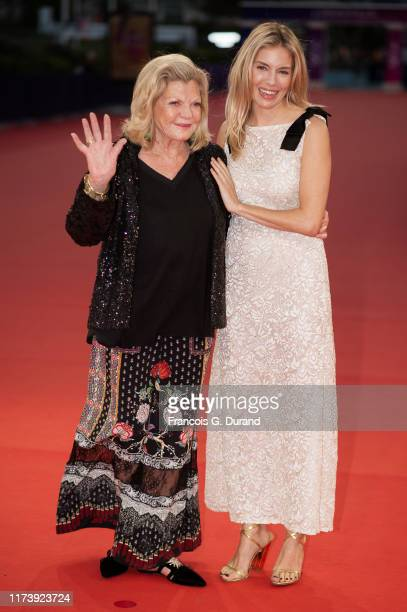 "Sienna Miller and her mother Jo Miller attend the ""American Women"" Premiere during the 45th Deauville American Film Festival on September 11, 2019 in..."