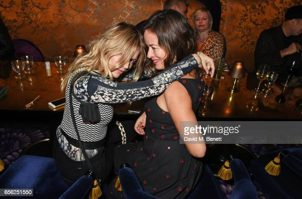 Sienna Miller and Jade Jagger attend the Another Man Spring/Summer Issue launch dinner in association with Kronaby at Park Chinois on March 21 2017...