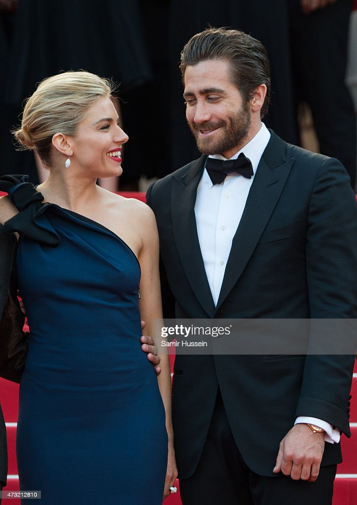 Sienna Miller and Jake Gyllenhaal attend the opening ceremony and premiere of 'La Tete Haute ('Standing Tall') during the 68th annual Cannes Film Festival on May 13, 2015 in Cannes, France.