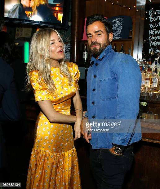 Sienna Miller and Justin Theroux attend CHAOS x LOVE magazine party on June 7 2018 in New York City