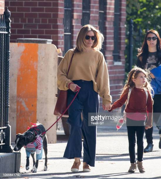 Sienna Miller and Marlowe Ottoline Layng Sturridge are seen on October 31 2018 in New York City