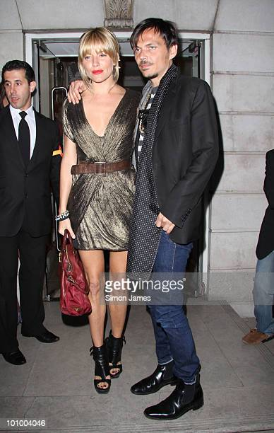 Sienna Miller and Matthew Williamson are seen attending the Matthew Williamson and Belvedere Vodka party on May 26 2010 in London England