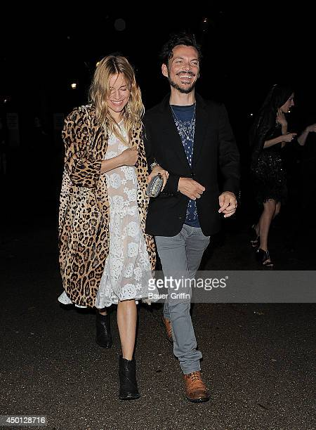 Sienna Miller and Matthew Williamson are seen on September 16 2013 in London United Kingdom