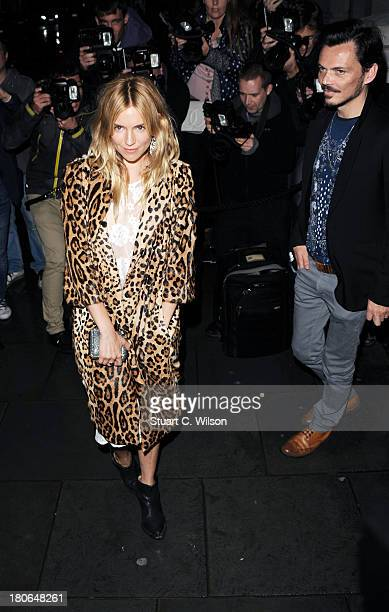 Sienna Miller and Matthew Williamson attend the Vogue party during London Fashion Week SS14 at on September 15 2013 in London England