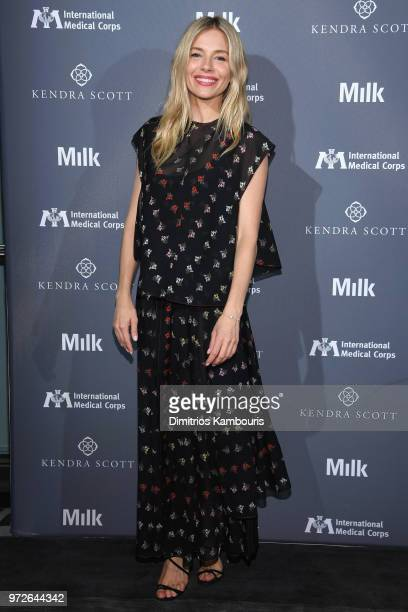 Sienna Miller and Milk Studios host the International Medical Corps summer cocktail event at Milk Studios on June 12 2018 in New York City
