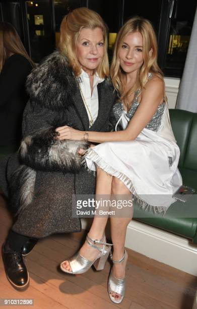 Sienna Miller and mother Jo Miller attend the launch of Teresa Tarmey's new 'at home facial system' at Mortimer House, sponsored by CIROC, on January...