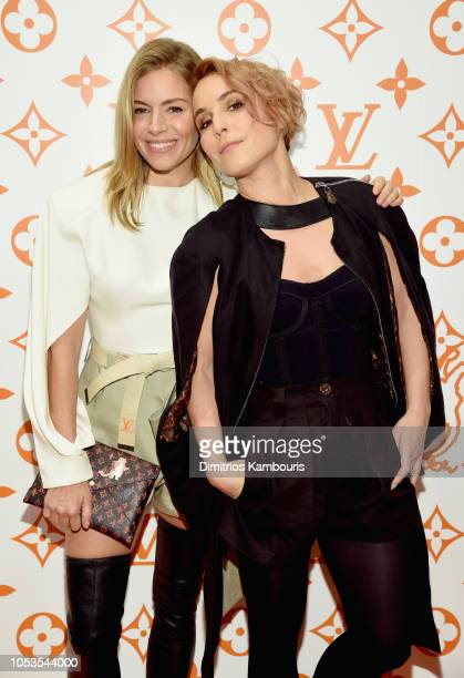 Sienna Miller and Noomi Rapace attend the Louis Vuitton X Grace Coddington Event on October 25 2018 in New York City