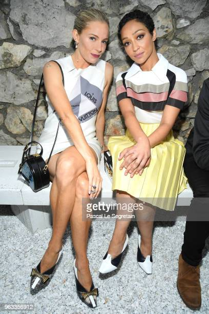 Sienna Miller and Ruth Negga attend Louis Vuitton 2019 Cruise Collection at Fondation Maeght on May 28 2018 in SaintPaulDeVence France