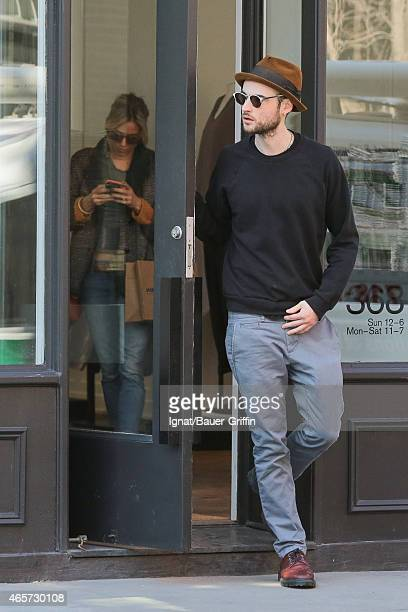 Sienna Miller and Tom Sturridge are seen in New York City on March 09 2015 in New York City