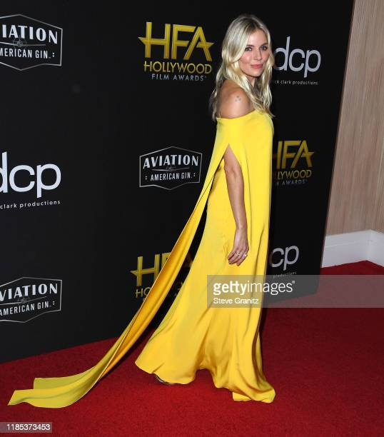 Sienna Miller arrives at the 23rd Annual Hollywood Film Awards at The Beverly Hilton Hotel on November 03 2019 in Beverly Hills California