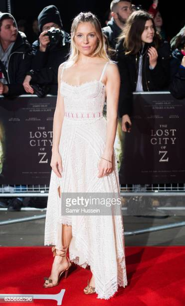 Sienna Miller arrives at The Lost City of Z UK premiere on February 16 2017 in London United Kingdom