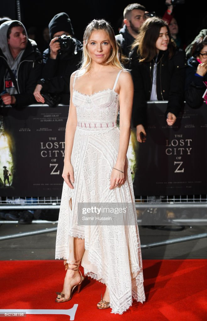 Sienna Miller arrives at The Lost City of Z UK premiere on February 16, 2017 in London, United Kingdom.