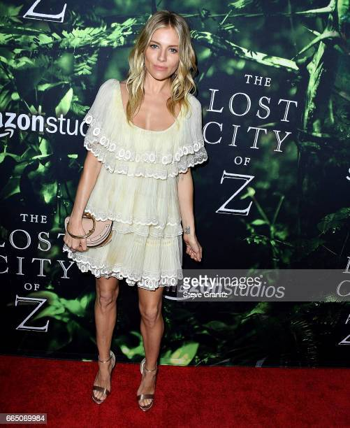 Sienna Miller arrives at the Premiere Of Amazon Studios' 'The Lost City Of Z' at ArcLight Hollywood on April 5 2017 in Hollywood California