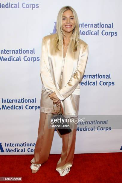 Sienna Miller arrives for the International Medical Corps' Annual Awards Celebration at Regent Beverly Wilshire Hotel on November 07 2019 in Beverly...