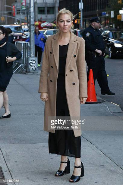 Sienna Miller at The Late Show With Stephen Colbert on October 26 2015 in New York City