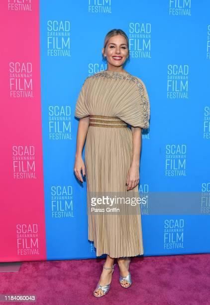 Sienna Miller attends 22nd SCAD Savannah Film Festival at Trustees Theater on October 28, 2019 in Savannah, Georgia.
