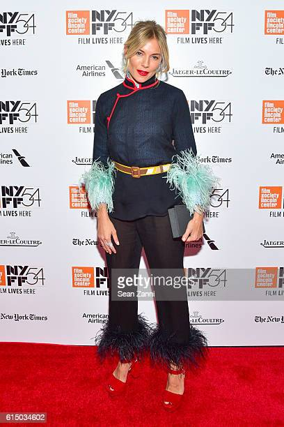 Sienna Miller attends 54th New York Film Festival 'The Lost City of Z' Closing Night Gala Presentation and World Premiere at Alice Tully Hall on...