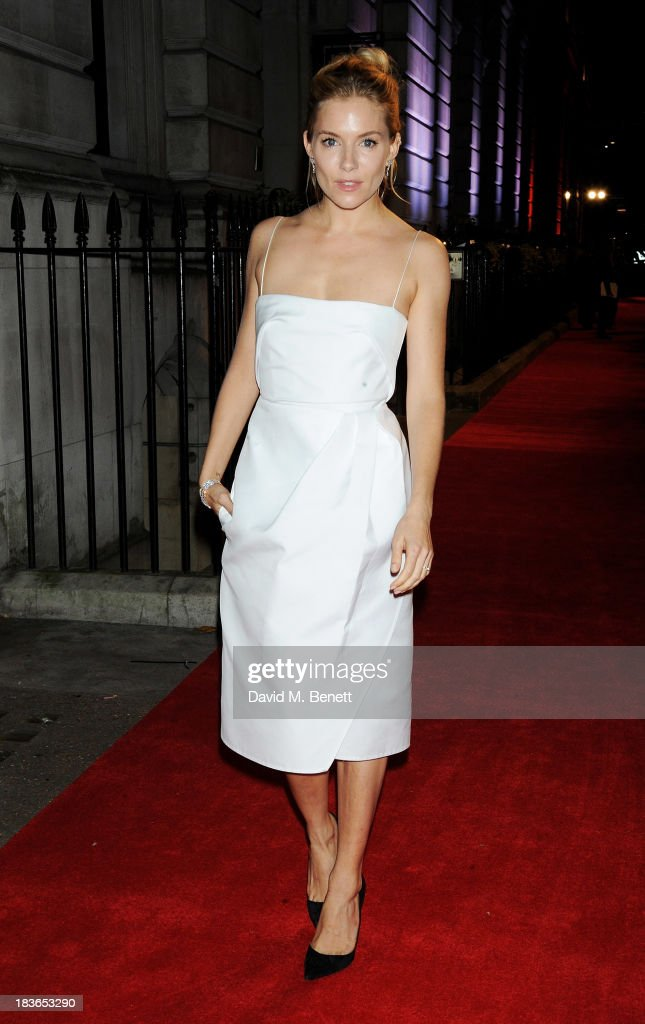 Sienna Miller attends a BFI Luminous Gala ahead of the London Film Festival at 8 Northumberland Avenue on October 8, 2013 in London, England.