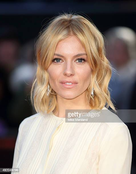 Sienna Miller attends a screening of High Rise during the BFI London Film Festival at Odeon Leicester Square on October 9 2015 in London England