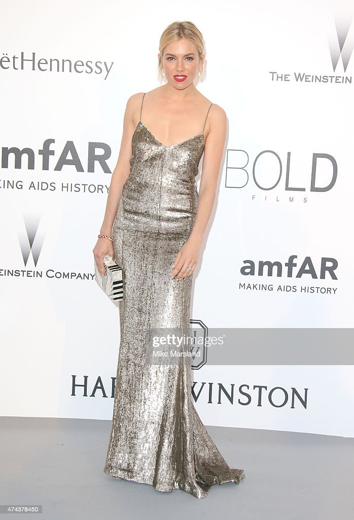 Sienna Miller attends amfAR's 22nd Cinema Against AIDS Gala, Presented By Bold Films And Harry Winston at Hotel du Cap-Eden-Roc on May 21, 2015 in Cap d'Antibes, France.