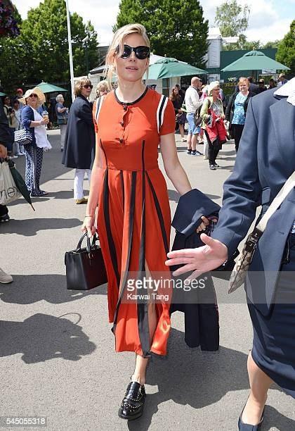 Sienna Miller attends day eight of the Wimbledon Tennis Championships at Wimbledon on July 05 2016 in London England