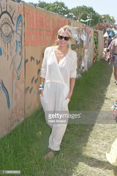 Sienna Miller attends day one of the Glastonbury Festival on June 28, 2019 in Glastonbury, England.