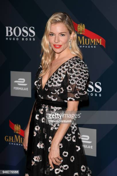 Sienna Miller attends FIA Formula E Gala Dinner at Villa Miani on April 14 2018 in Rome Italy