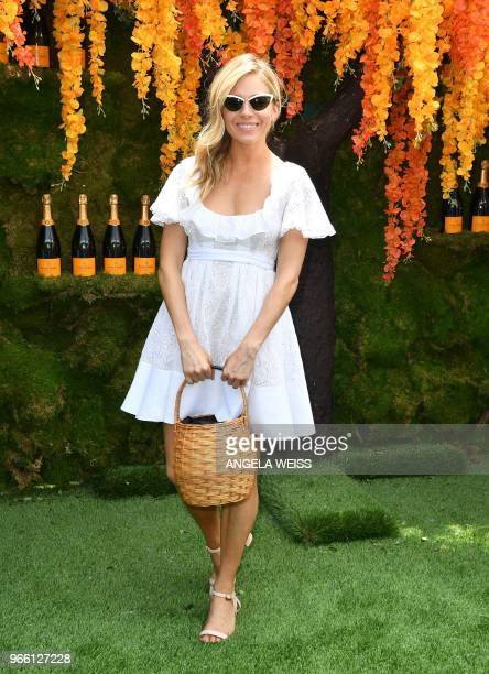 Sienna Miller attends the 11th Annual Veuve Clicquot Polo Classic at Liberty State Park on June 2 2018 in Jersey City New Jersey
