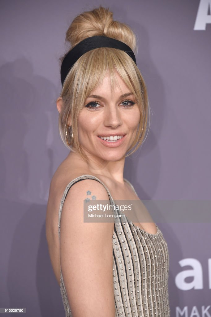 Sienna Miller attends the 2018 amfAR Gala New York at Cipriani Wall Street on February 7, 2018 in New York City.