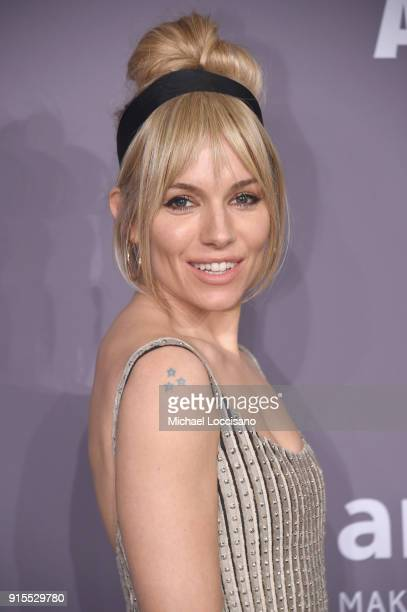 Sienna Miller attends the 2018 amfAR Gala New York at Cipriani Wall Street on February 7 2018 in New York City