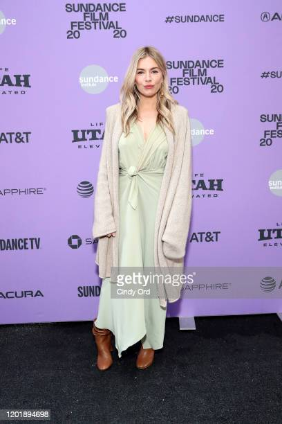 """Sienna Miller attends the 2020 Sundance Film Festival - """"Wander Darkly"""" Premiere at Library Center Theater on January 25, 2020 in Park City, Utah."""