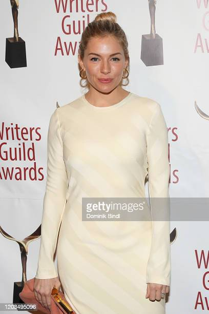 Sienna Miller attends the 72nd Writers Guild Awards at Edison Ballroom on February 01, 2020 in New York City.