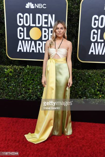 Sienna Miller attends the 77th Annual Golden Globe Awards at The Beverly Hilton Hotel on January 05, 2020 in Beverly Hills, California.