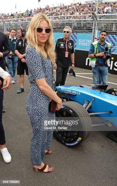 Sienna Miller attends the ABB FIA Formula E CBMM Niobium Rome EPrix 2018 on April 14 2018 in Rome