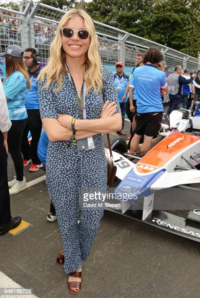 Sienna Miller attends the ABB FIA Formula E CBMM Niobium Rome EPrix 2018 on April 14 2018 in Rome