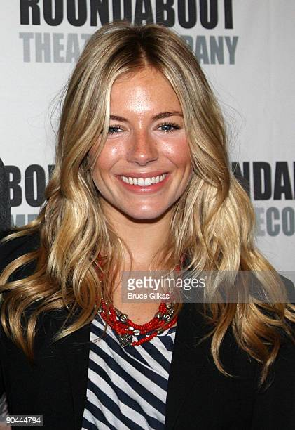 Sienna Miller attends the 'After Miss Julie' Broadway cast photo call on September 8 2009 in New York City