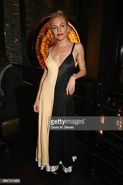 Sienna Miller attends the after party following the European Premiere of 'Burnt' at Tredwell's on October 28 2015 in London England