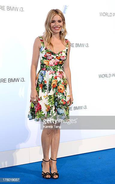 Sienna Miller attends the BMW i3 global reveal party held at Old Billingsgate Market on July 29 2013 in London England