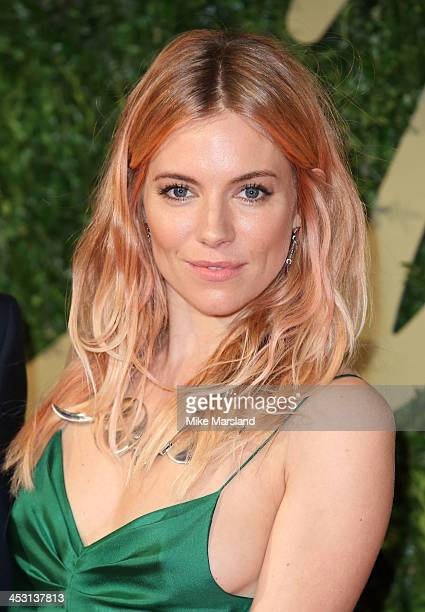 Sienna Miller attends the British Fashion Awards 2013 at London Coliseum on December 2, 2013 in London, England.