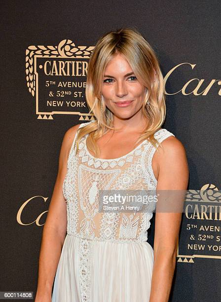 Sienna Miller attends the Cartier Fifth Avenue Mansion Reopening Party at Cartier Mansion on September 7 2016 in New York City