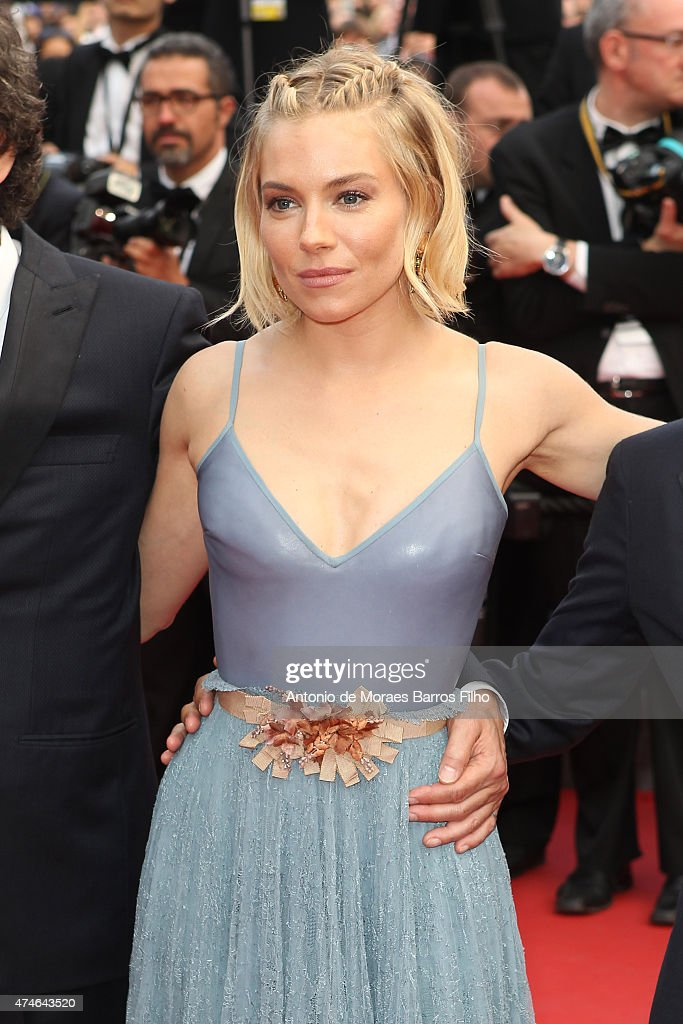 Sienna Miller attends the closing ceremony and 'Le Glace Et Le Ciel' ('Ice And The Sky') premiere during the 68th annual Cannes Film Festival on May 24, 2015 in Cannes, France.