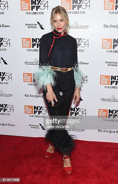 Sienna Miller attends the Closing Night Screening of 'The Lost City Of Z' for the 54th New York Film Festival at Alice Tully Hall Lincoln Center on...