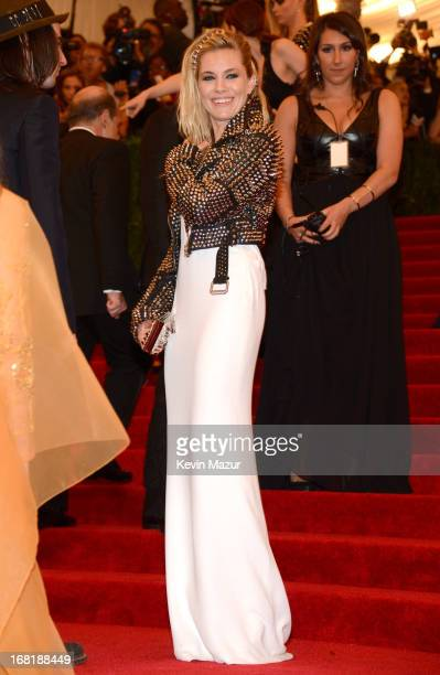 Sienna Miller attends the Costume Institute Gala for the 'PUNK Chaos to Couture' exhibition at the Metropolitan Museum of Art on May 6 2013 in New...