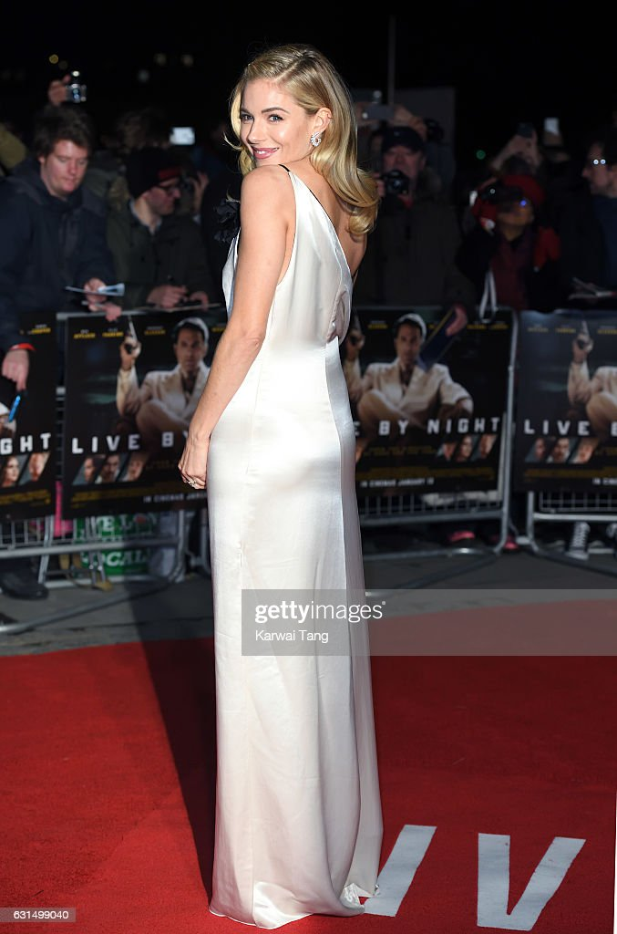 Sienna Miller attends the European Film Premiere of 'Live By Night' at The BFI Southbank on January 11, 2017 in London, United Kingdom.