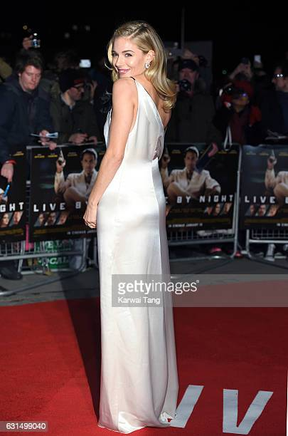 Sienna Miller attends the European Film Premiere of Live By Night at The BFI Southbank on January 11 2017 in London United Kingdom