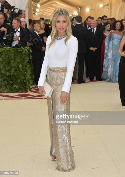Sienna Miller attends the Heavenly Bodies Fashion The Catholic Imagination Costume Institute Gala at The Metropolitan Museum of Art on May 7 2018 in...