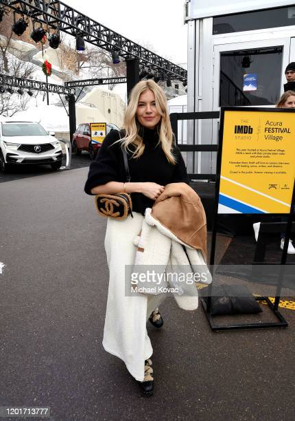 Sienna Miller attends the IMDb Studio at Acura Festival Village at Sundance Film Festival on January 24 2020 in Park City Utah