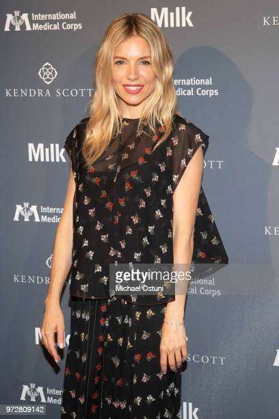 Sienna Miller attends the International Medical Corps Summer Benefit at Milk Studios on June 12 2018 in New York City