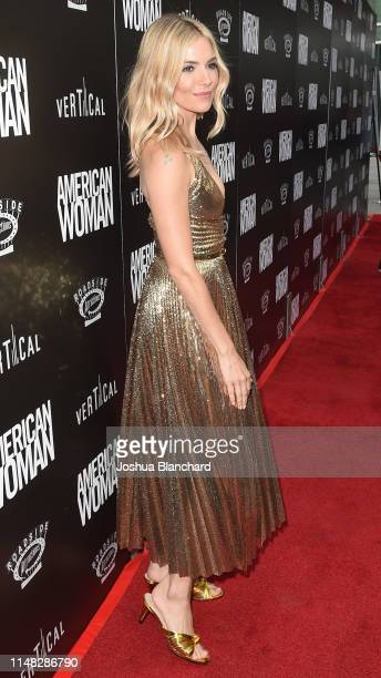 "Sienna Miller attends the Los Angeles Premiere of ""American Woman"" on June 5, 2019 in Los Angeles, California."