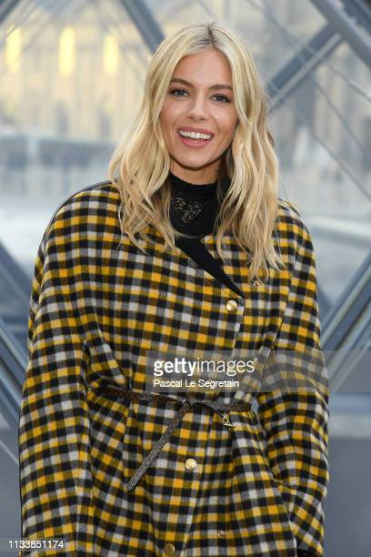 Sienna Miller attends the Louis Vuitton show as part of the Paris Fashion Week Womenswear Fall/Winter 2019/2020 on March 05 2019 in Paris France